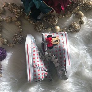 Minnie Mouse Grey Sneakers NWT/slight worn
